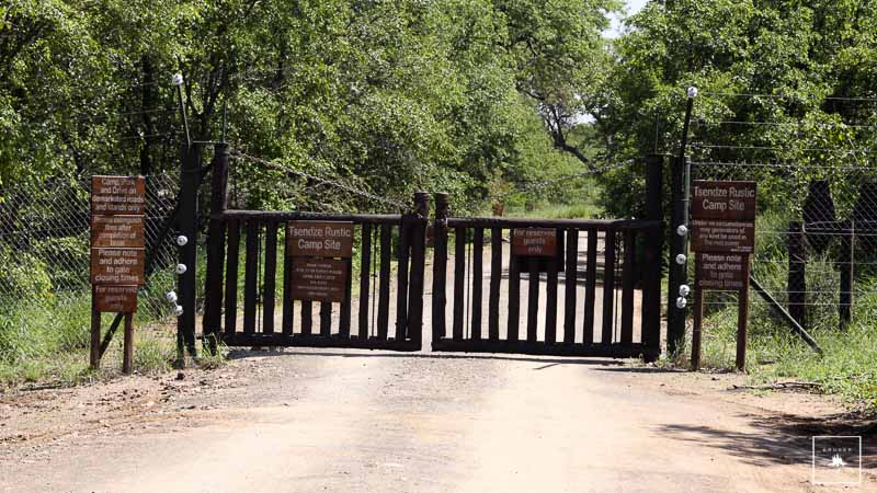 Tsendze Rustic Camp Gate